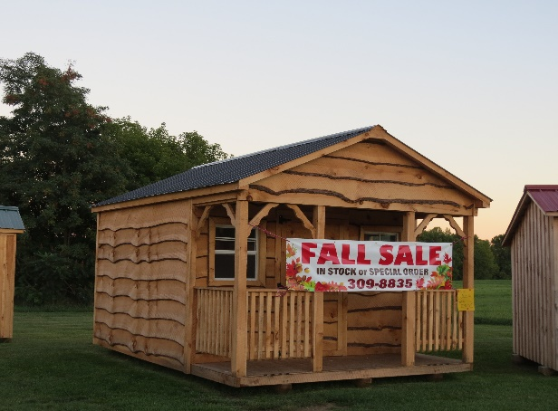 Country sheds, Amish hand-made, selling on Champlain Isles