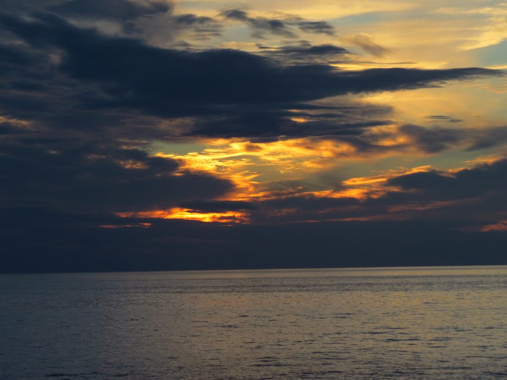 Last rays of light, ferry to PEI