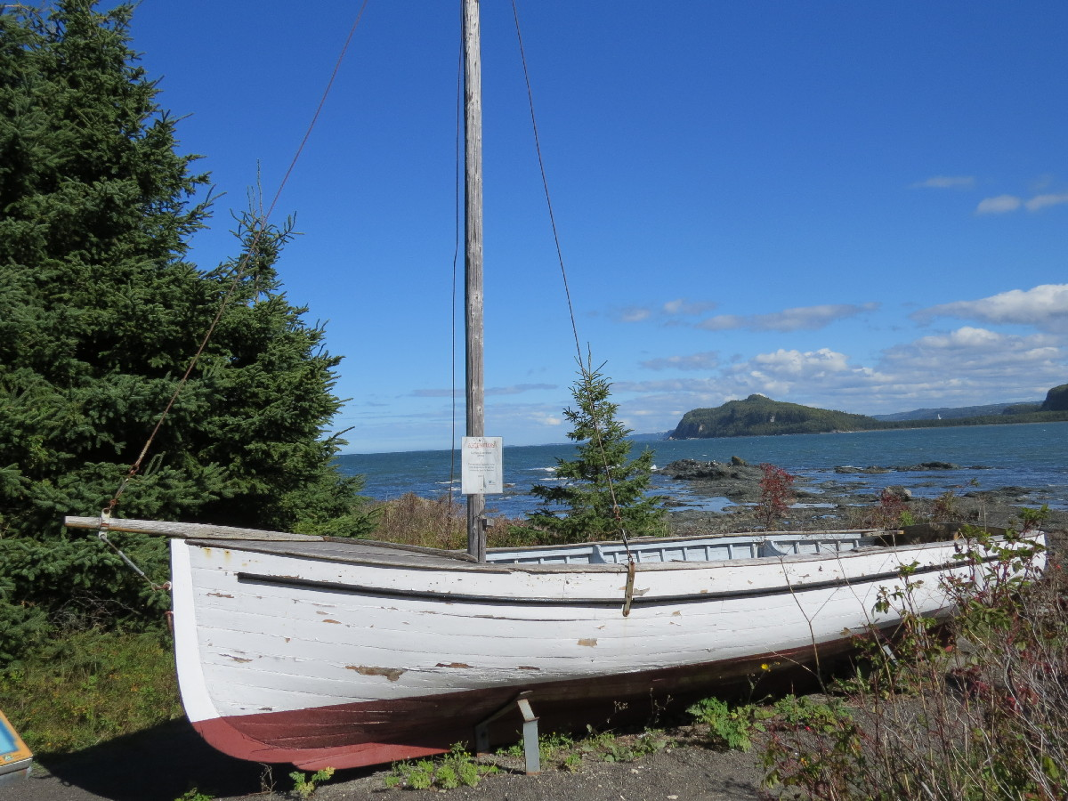 An old sailboat by La Rose des Thes, Chemin du Nord, Parc National du Bic, Quebec