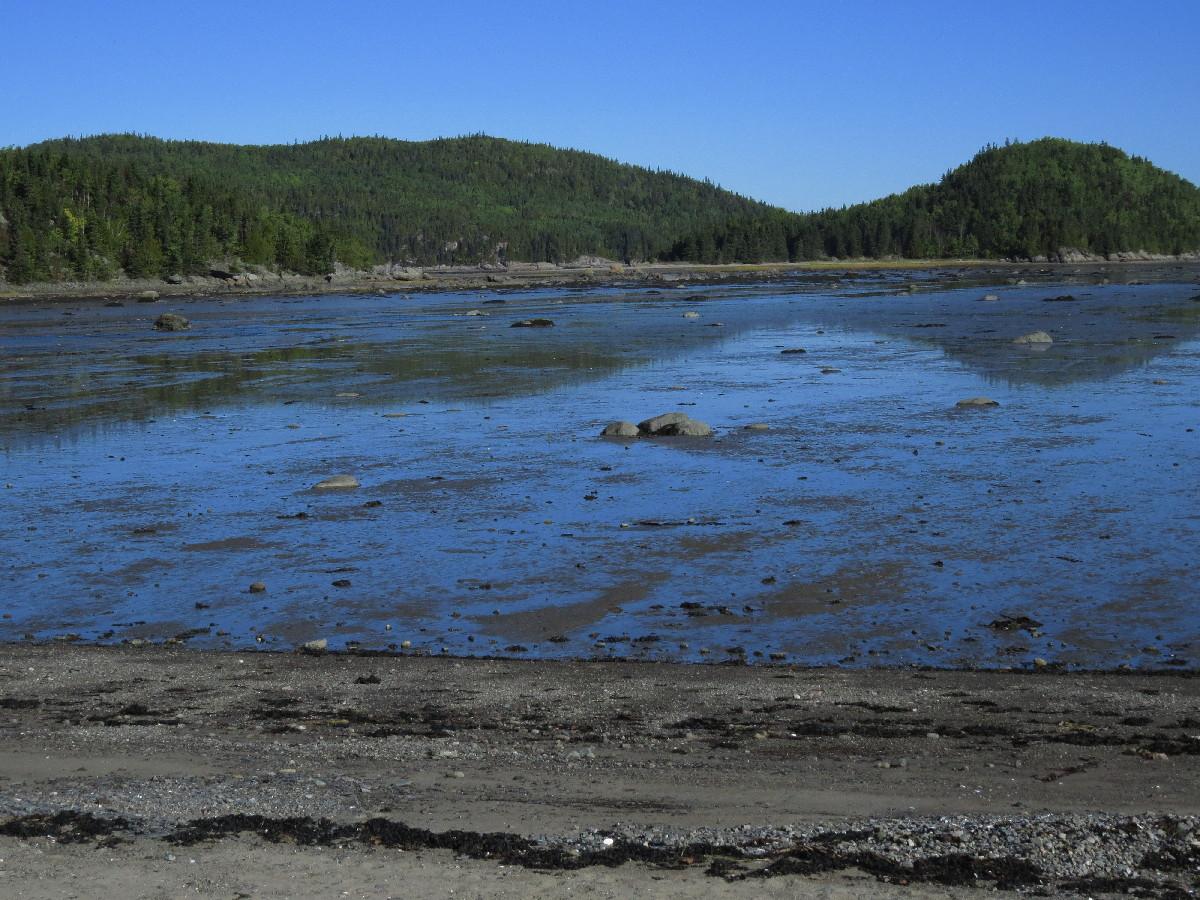 Low tide plain on way out of Parc National Du Bic, Quebec
