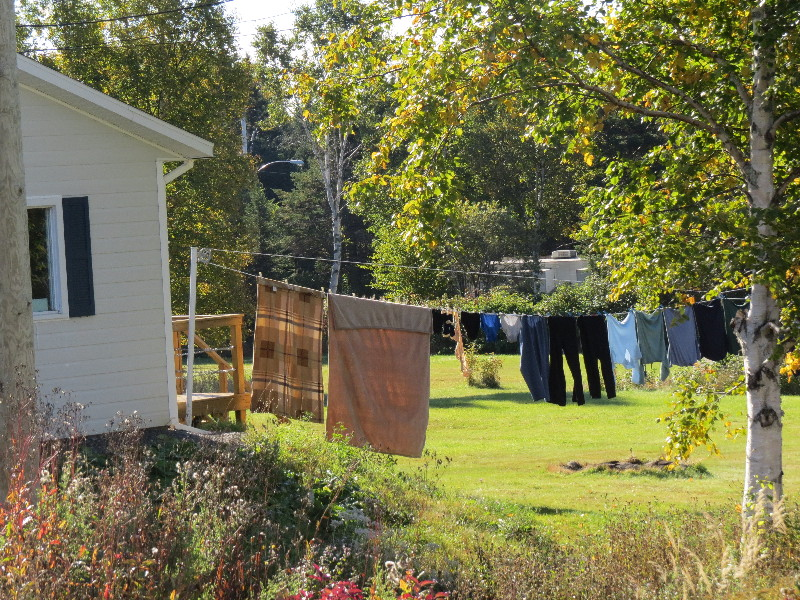 Laundry drying, Forillon National Park, QC, Gaspe Peninsula