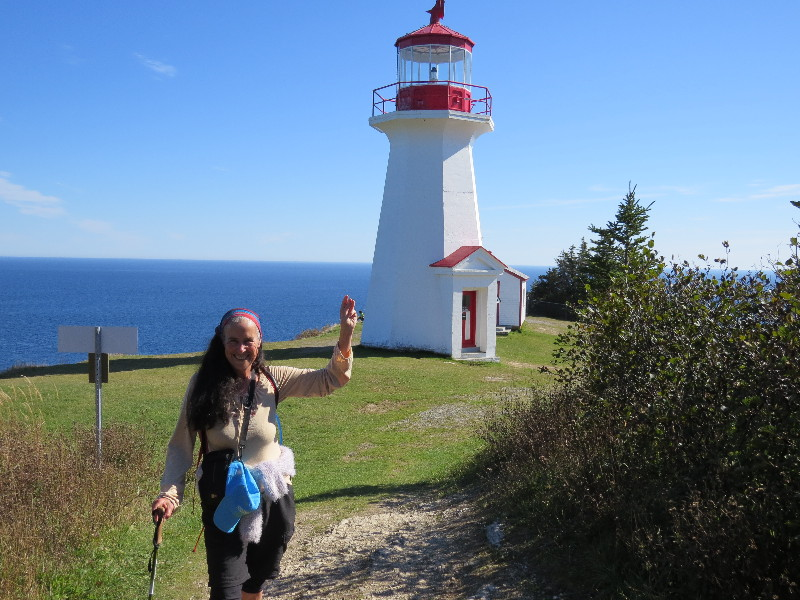 By the lighthouse, Land's End, Forillon National park, QC, Gaspe Peninsula