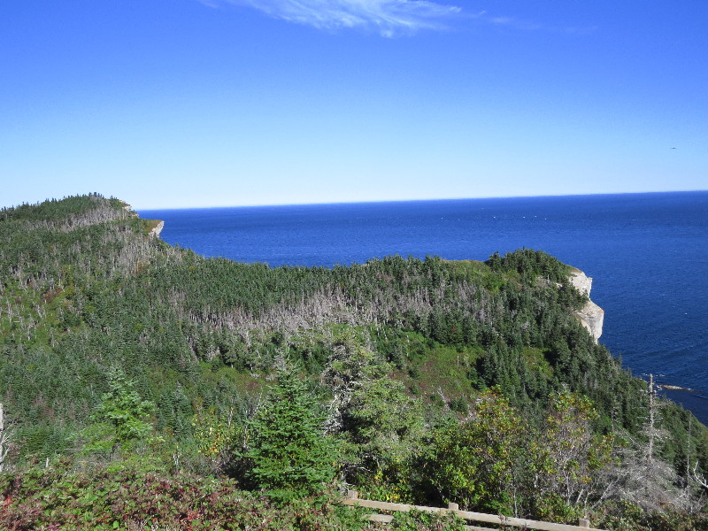 View over sea from Les Graves, Forillon National Park, QC, Gaspe Peninsula