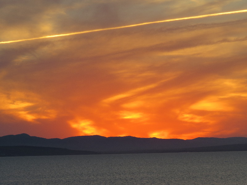Sky taking colors at sunset, Forillon National Park, QC, Gaspe