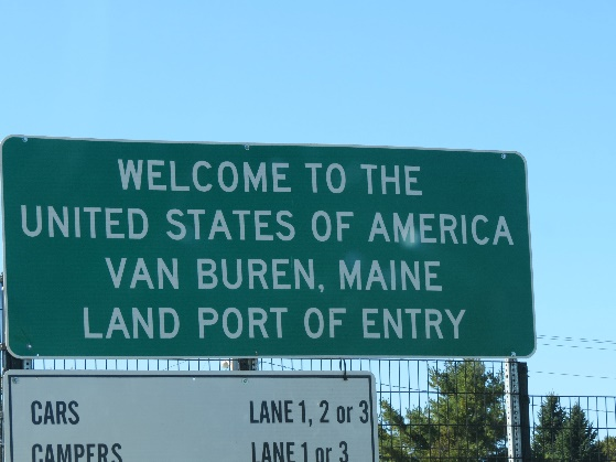 Van Buren crossing, New Brunswick to Maine