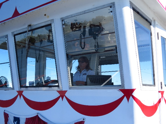 Our female captain, Uncle Sam Boat Tours, 1000 Islands, NYS