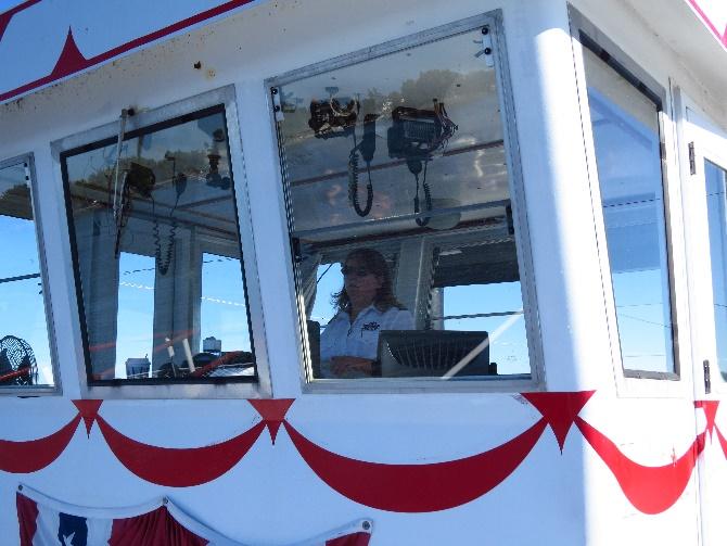 Our female captain, Uncle Sam Boat Tours, 1000 Islands, NYS