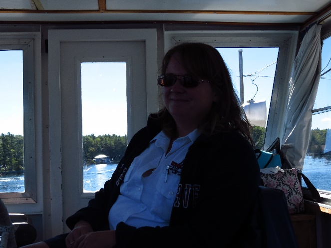 Female captain, Uncle Sam Boat Tours, 1000 Islands