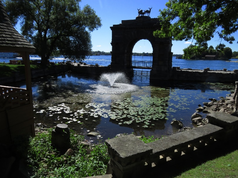 Beauty on the grounds of Boldt Castle, Heart Island