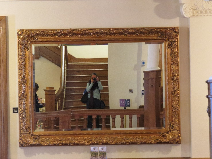 Reflected in a golden mirror, Boldt Castle, 1000 Islands, NYS