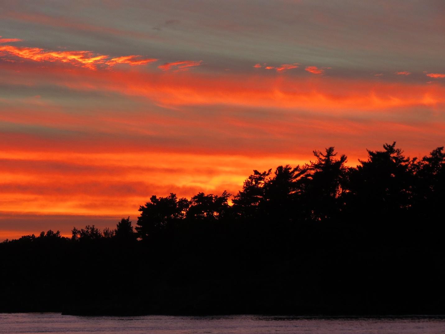Sun setting over Alexandria Bay, NYS