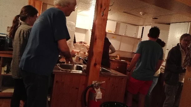In the communal kitchen, Forillon's Hostel, Gaspe