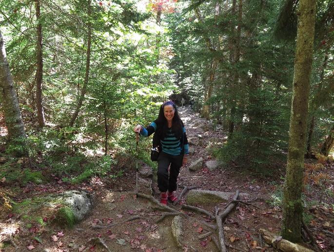 Climbing Mount Cadillac Southern ridge trail