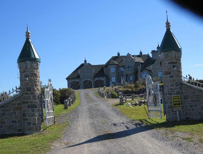 Mansion on Route 132, Gapse Peninsula, QC, past Rimouski,