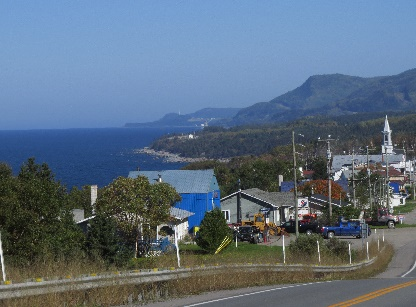 A village by Route 132, Gaspe Peninsuila, QC