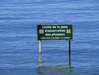 Seal protection zone, les Anses bay, Parc National du Bic trails