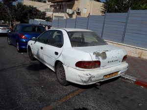 Road-savvy family Subaru, a typical Israeli car