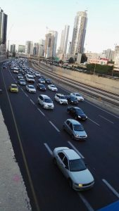 Ayalon highway - not a place for camels
