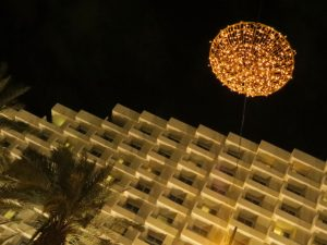 Hotel area at night, Eilat