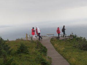 Chinese tourists on Skyline Trail, Cape Breton
