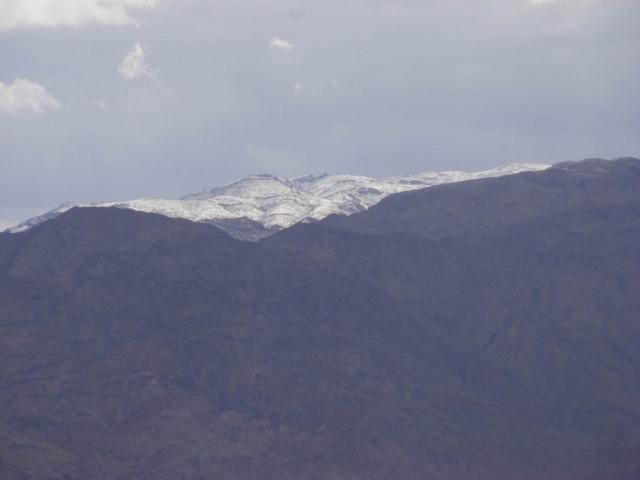 Snowy peak up yonder, Edom Mountains, Jordan, 2013