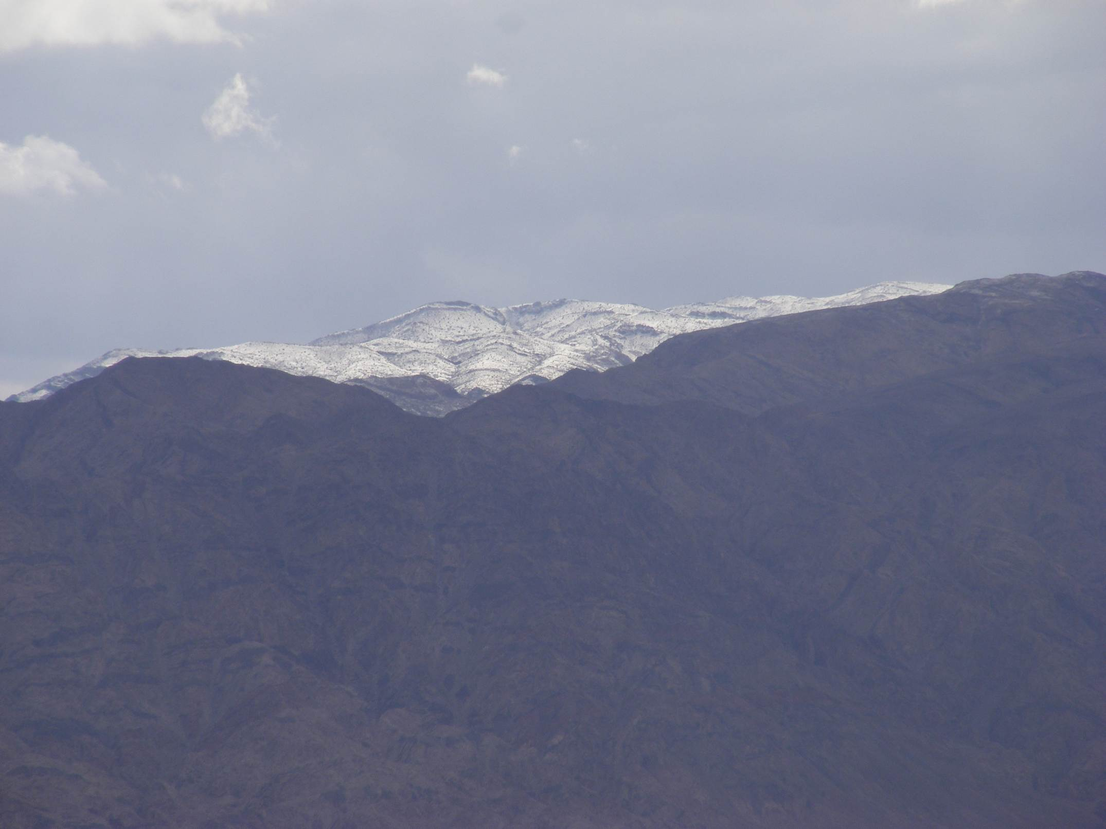 Snowy peak up yonder, Edom Mountains, Jordan, 2013