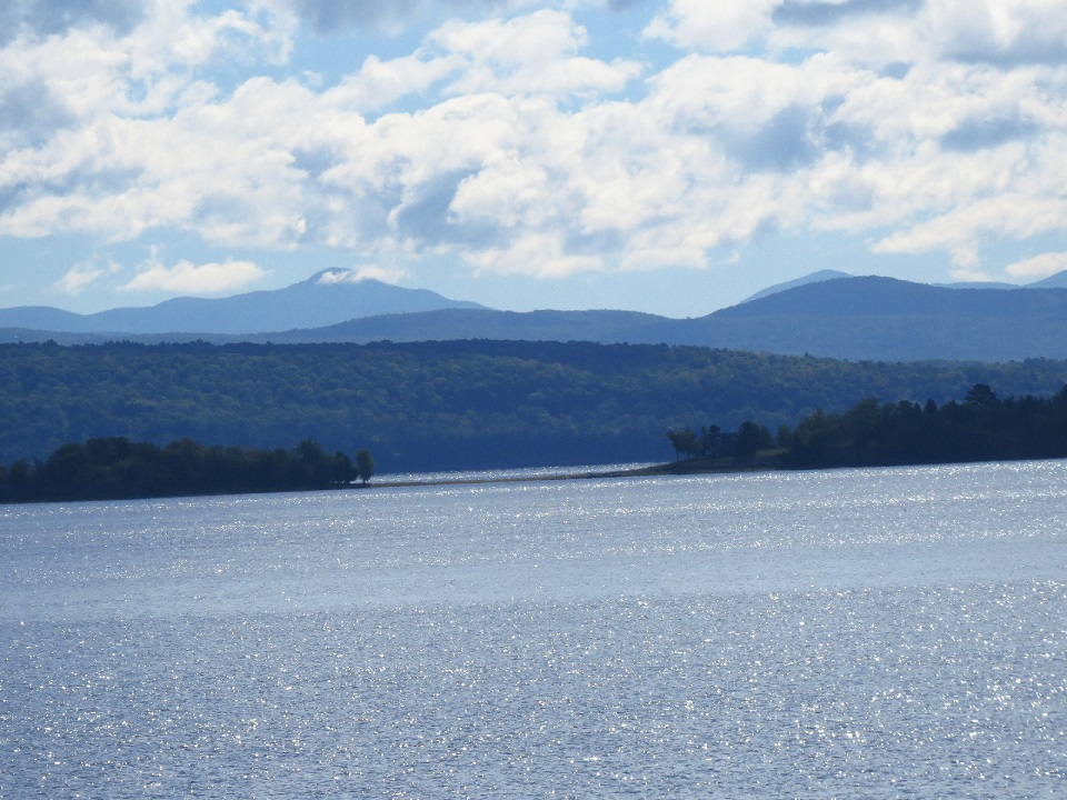 Lake Champlain On Way To Isle La Motte