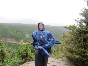 A windy, rainy day on the Skyline Trail, Western Cabot Trail, NS