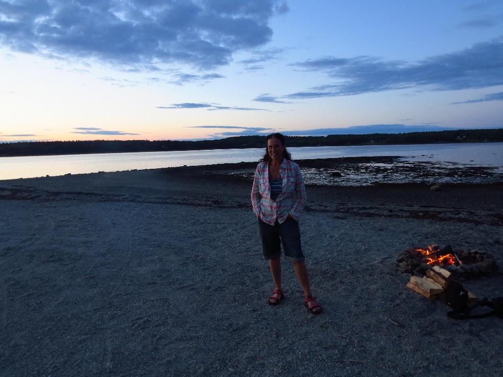Against the twilight, Hadley's Beach, Mount Desert Island