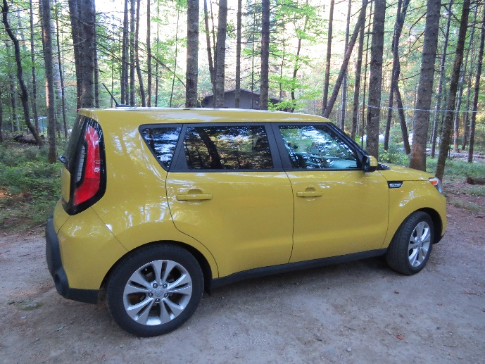 My Kia Soul at Jigger Johnson Campground, White Mountains, NH