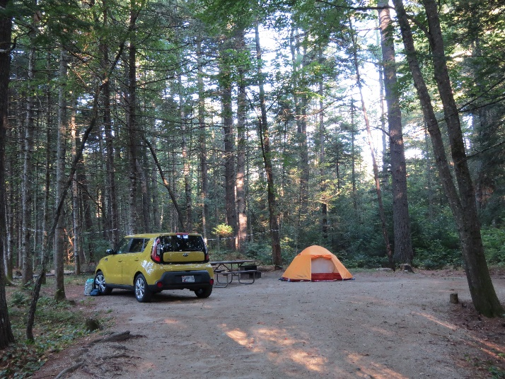 Lot #10 at Jigger Johnson Campground, White Mountains, NH