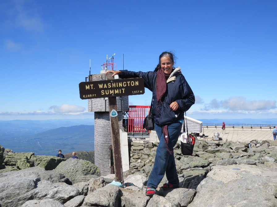 Posing With The Summit Sign, Mt. Washington