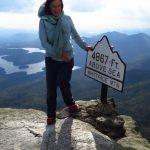 At the peak of Mount Whiteface, Adirondacks, NYS