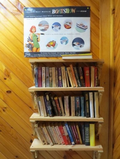 Bathroom library, Thousand Islands Campground, NYS