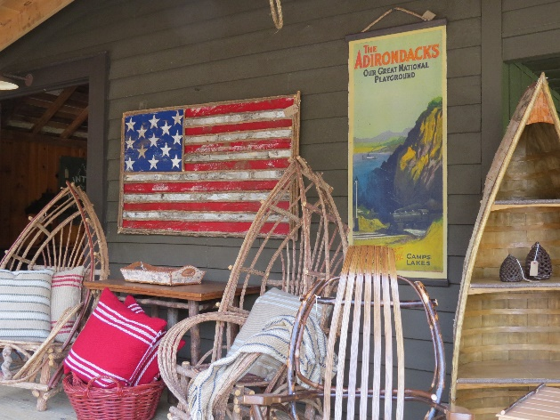 Sleds and Americana at Keene furniture store, Keene