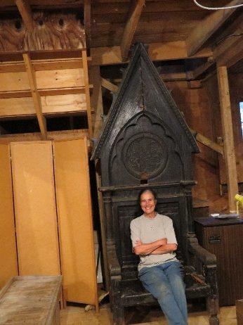 Queen's Chair, Linda's art barn, La Motte, VT