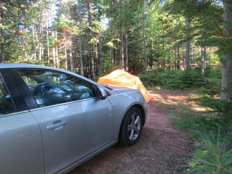 Tenting at Northumberland Campground, PEI