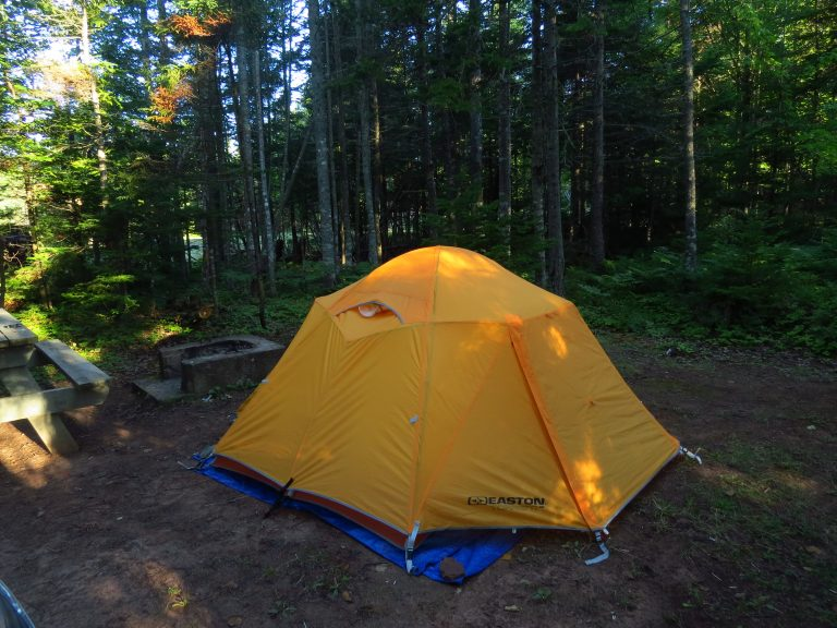 Tenting at Northumberland Provincial Park, PEI, NS