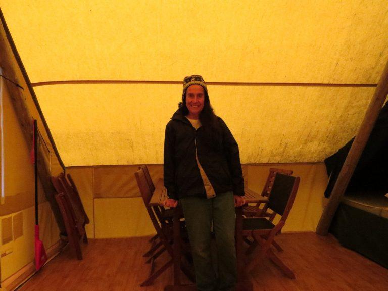 Inside Huttopia tent, Parc National du Bic, Quebec