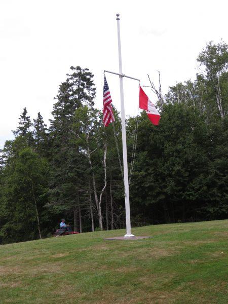 Double flag, Roosevelt Park, Campobello Island
