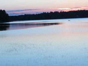 Matrix. Sunset over Kennebunk Pond, Maine