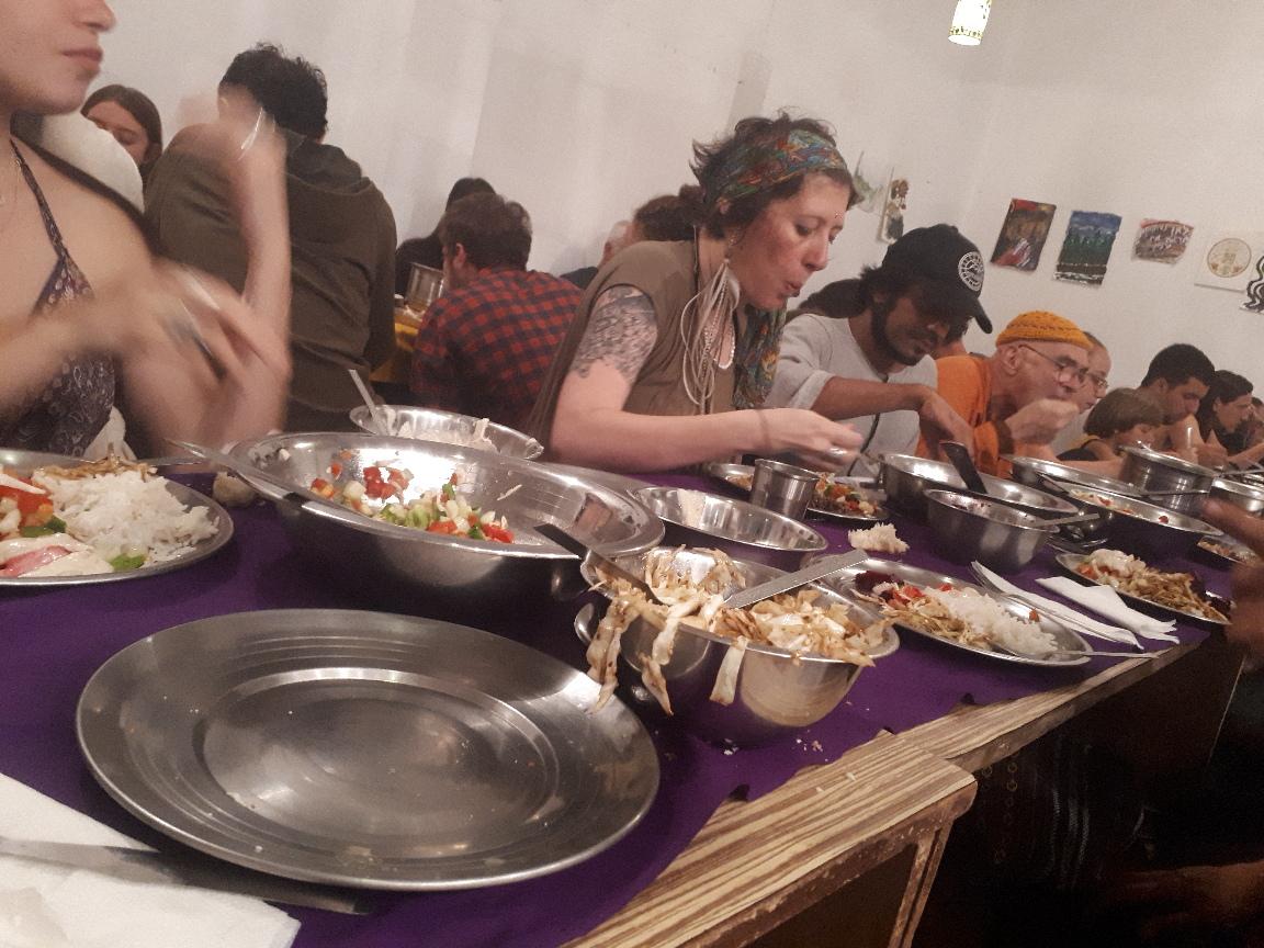 Shabbat meal at Beit Bina, Dharamkot, Himachal Pradesh