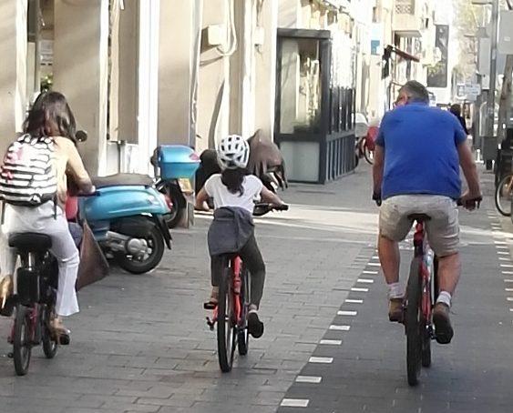 Family on Bikes, Tel Aviv