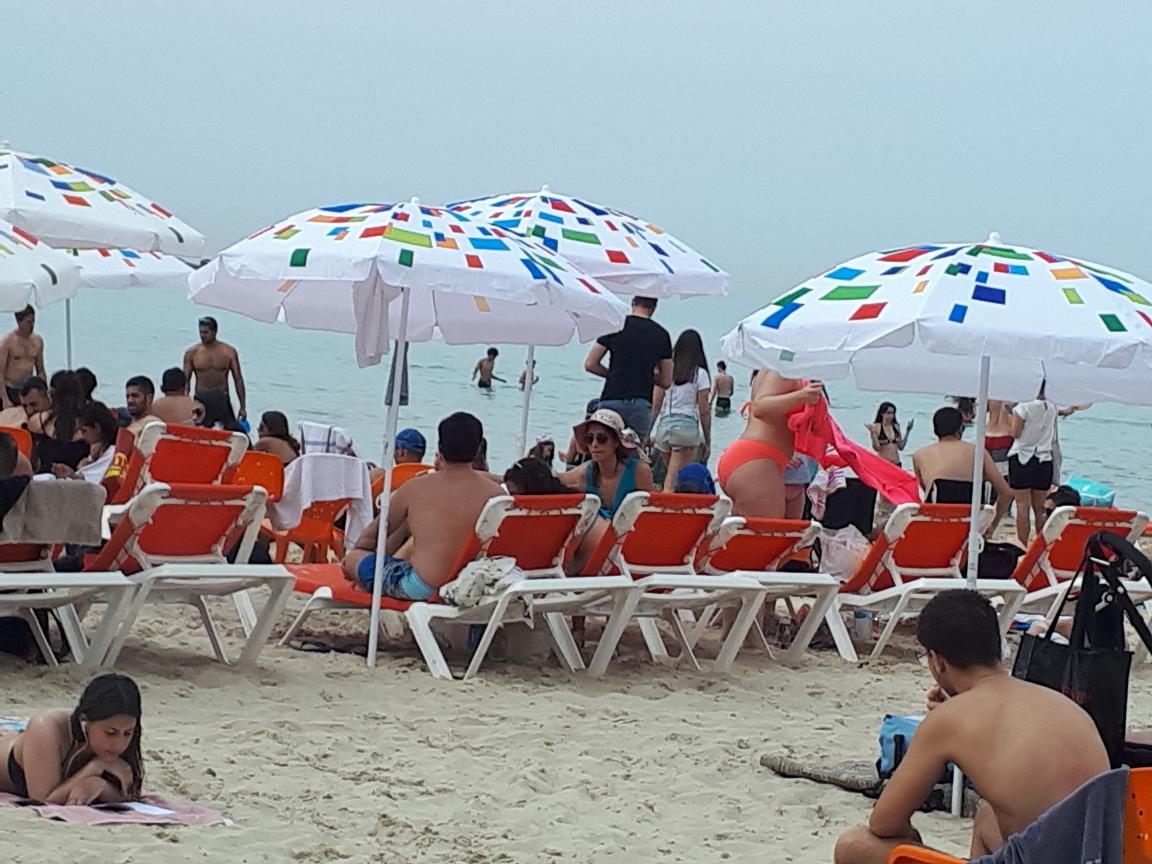 Relaxed beach scene, Tel Aviv, 2018