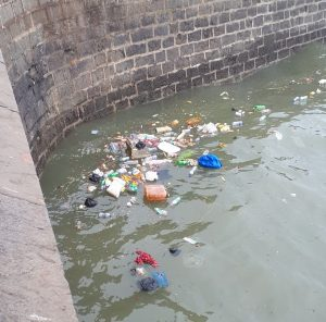 Garbage in Mumbai Bay.