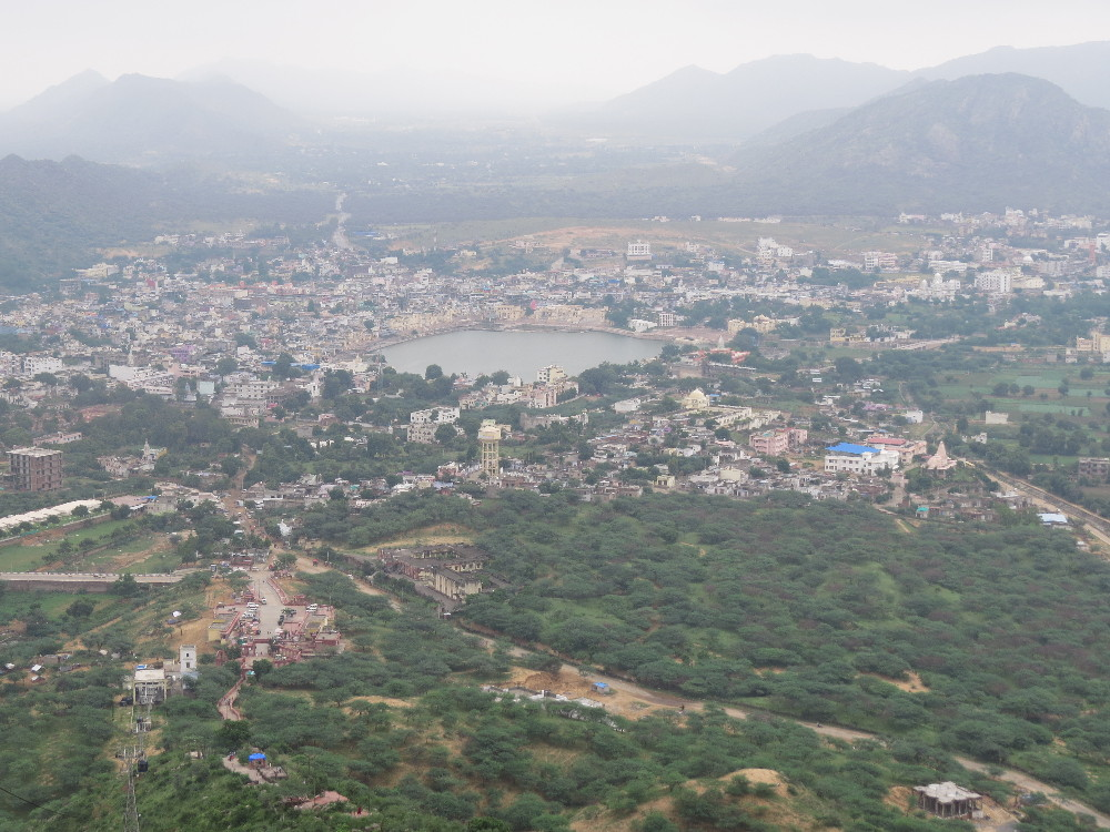 View over Pushkar from top Savitry Mata mountain