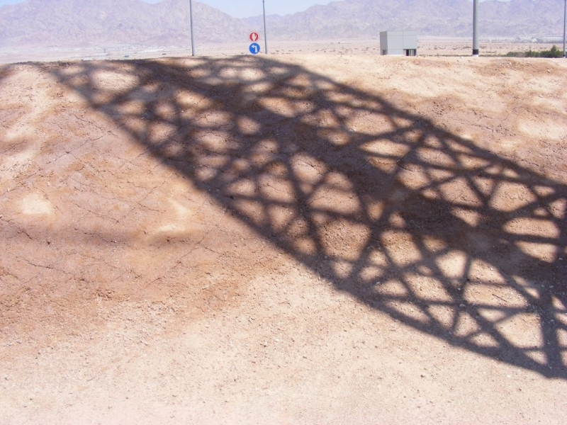 Shadow of electrical pole, Southern Arava.