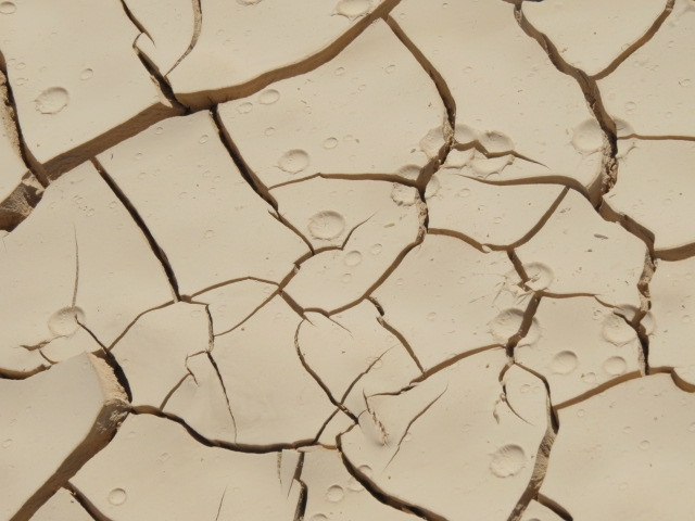 Rain drops in mud. Southern Arava. Oct. 2014.