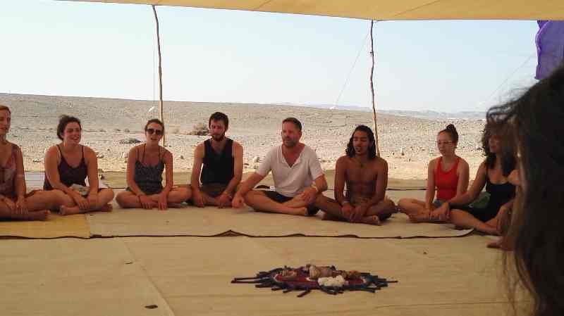 Shamanic circles, connecting with the Earth, Ashram Bamidbar, Shittim, Israel