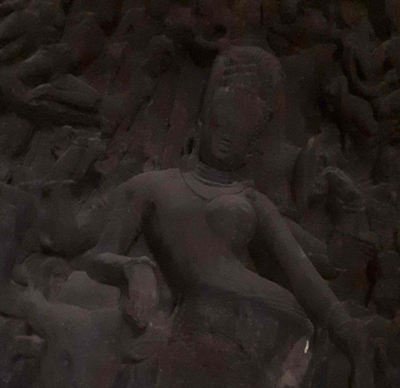 Ardhanarisvara. Androginous Shiva, Elephanta Island, Maharashtra, India